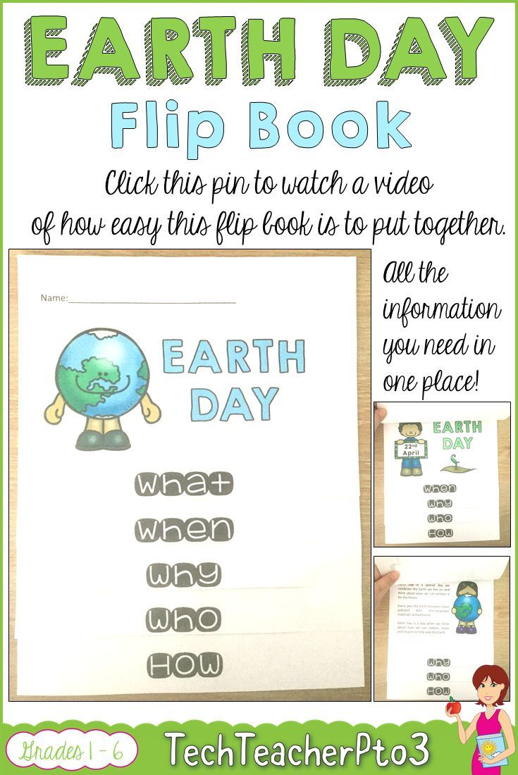 Earth day activities flip book flip books teacher and earth fandeluxe
