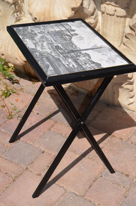 Vintage Mid 60s Artex Snack Tray Side Table By BirdifactsOldandNew