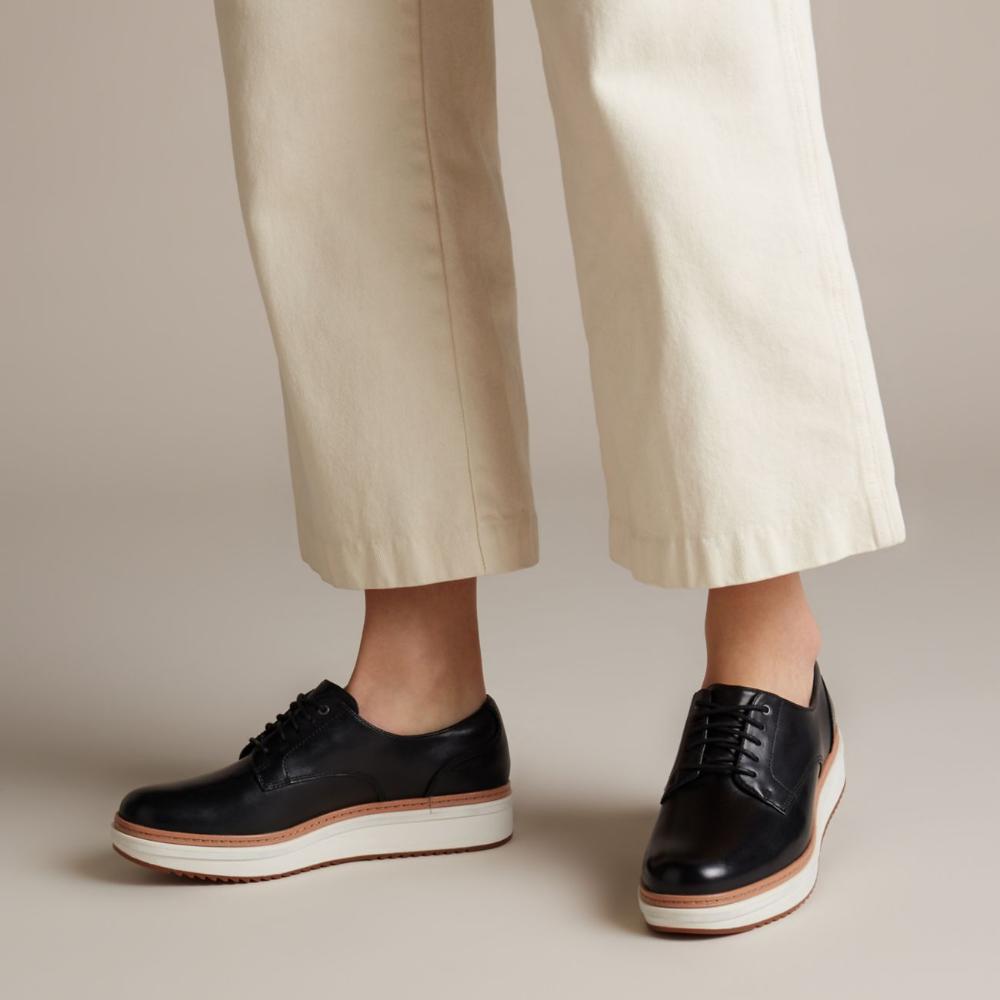 Teadale Rhea Black Smooth-Womens shoes