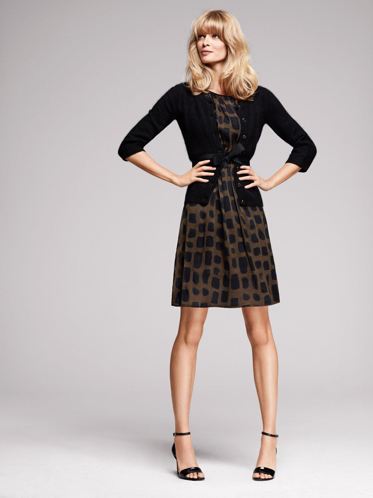 25970e621560 1.2.3 Paris - Robe Fizz   Gilet Clara   Chaussures Safir  imprime  animal   noir  marron  sandales  123  automne  hiver  mode