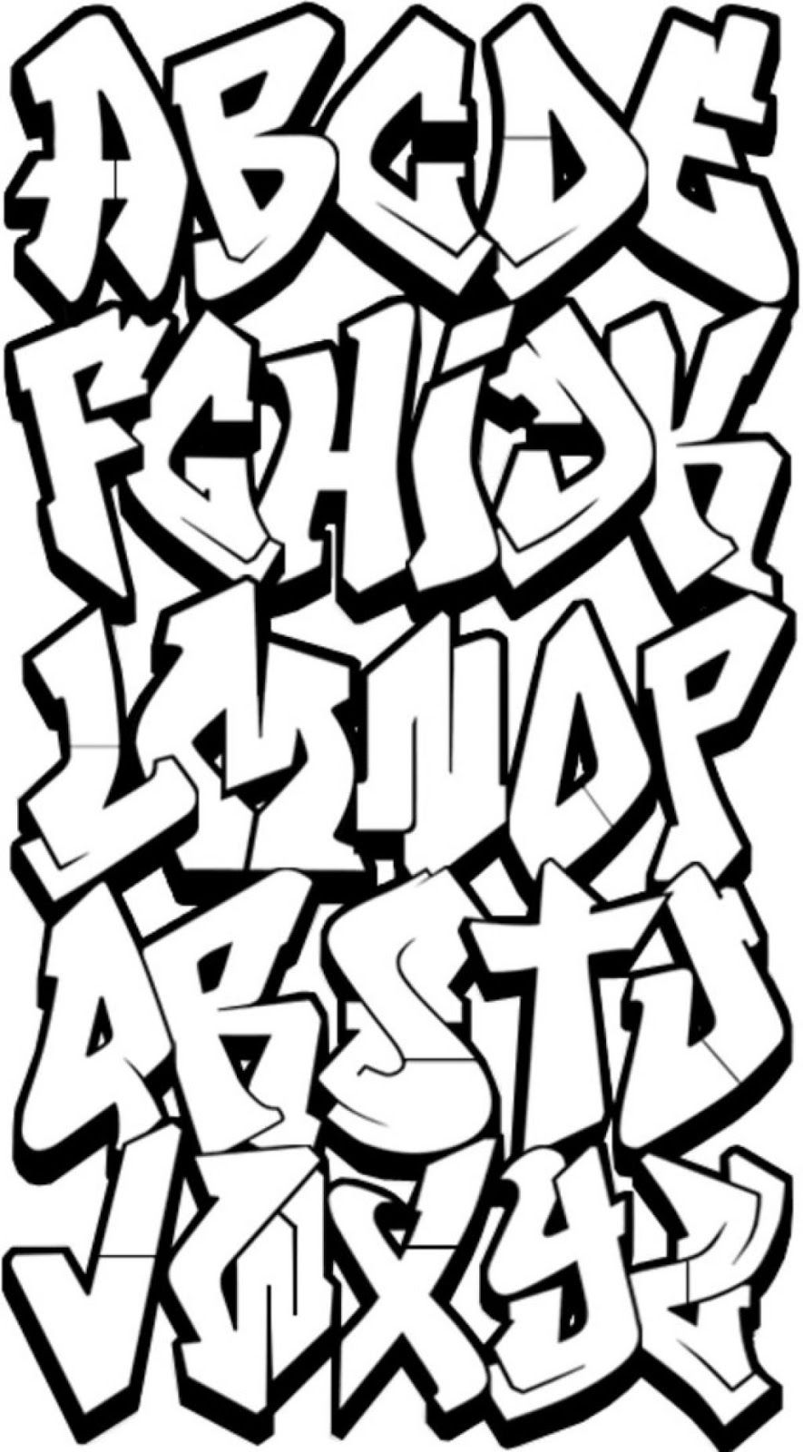 3D Graffiti Letters AZ Graffiti, Huruf, Abjad grafiti