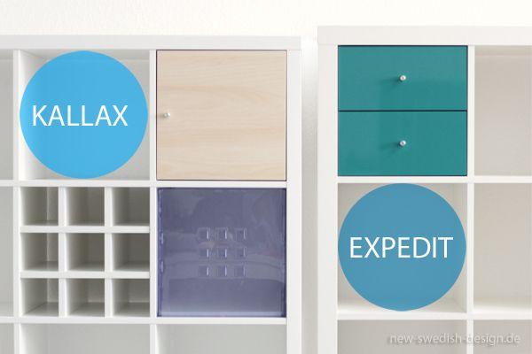 expedit vs kallax regal unterschiede im detail ikea pinterest. Black Bedroom Furniture Sets. Home Design Ideas
