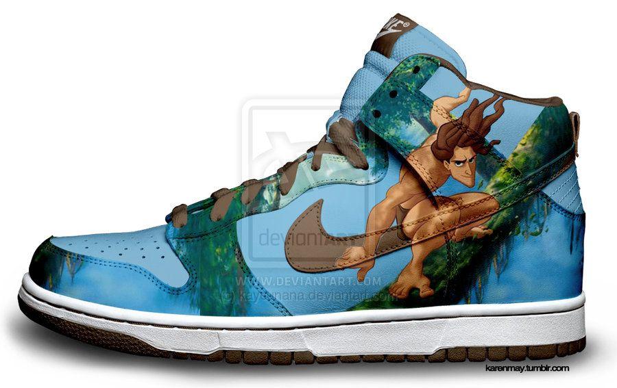 01c0193099c Custom Nike Dunks  Tarzans by kaycunana.deviantart.com on  deviantART
