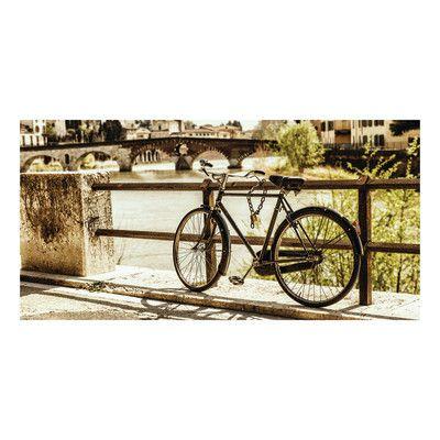 Quadro Su Tela Verona Bici Sul Ponte 70x140 Poster Dietro Divano