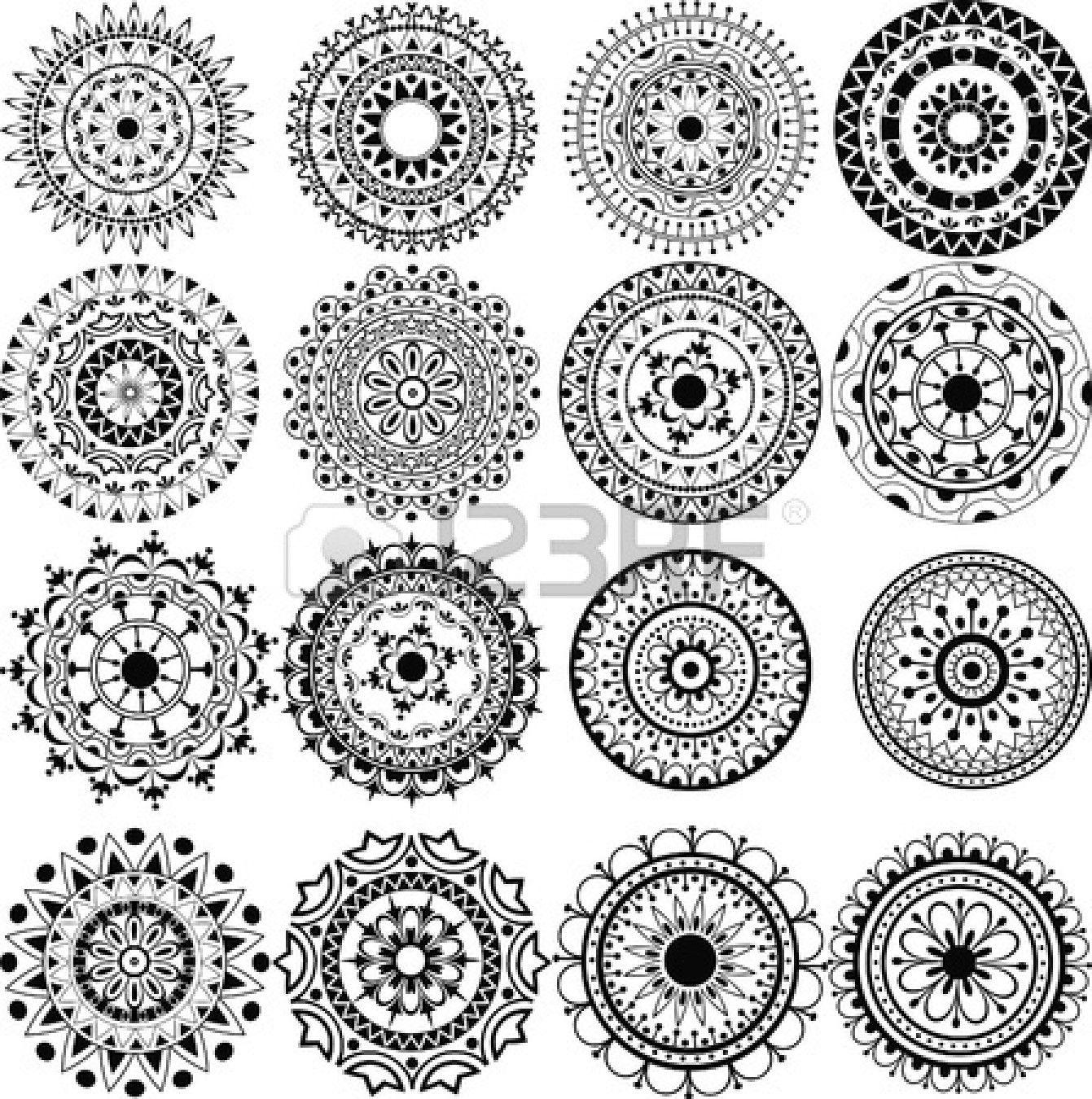 A Set Of Beautiful Mandalas And Lace Circles Lace Tattoo Tattoo Set Mandala