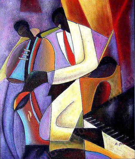 Art Deco Paintings | Art Deco painting on canvas 39 1013 | Art ...