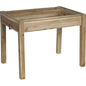 Carr potager sur pied en bois cm geolia jardin potager carr potager et for Carre de jardin en bois sur pied