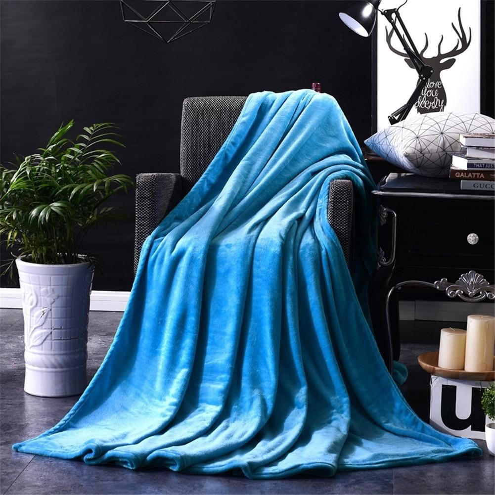 LL Solid Coral Fleece Throw Blanket Several Sizes and