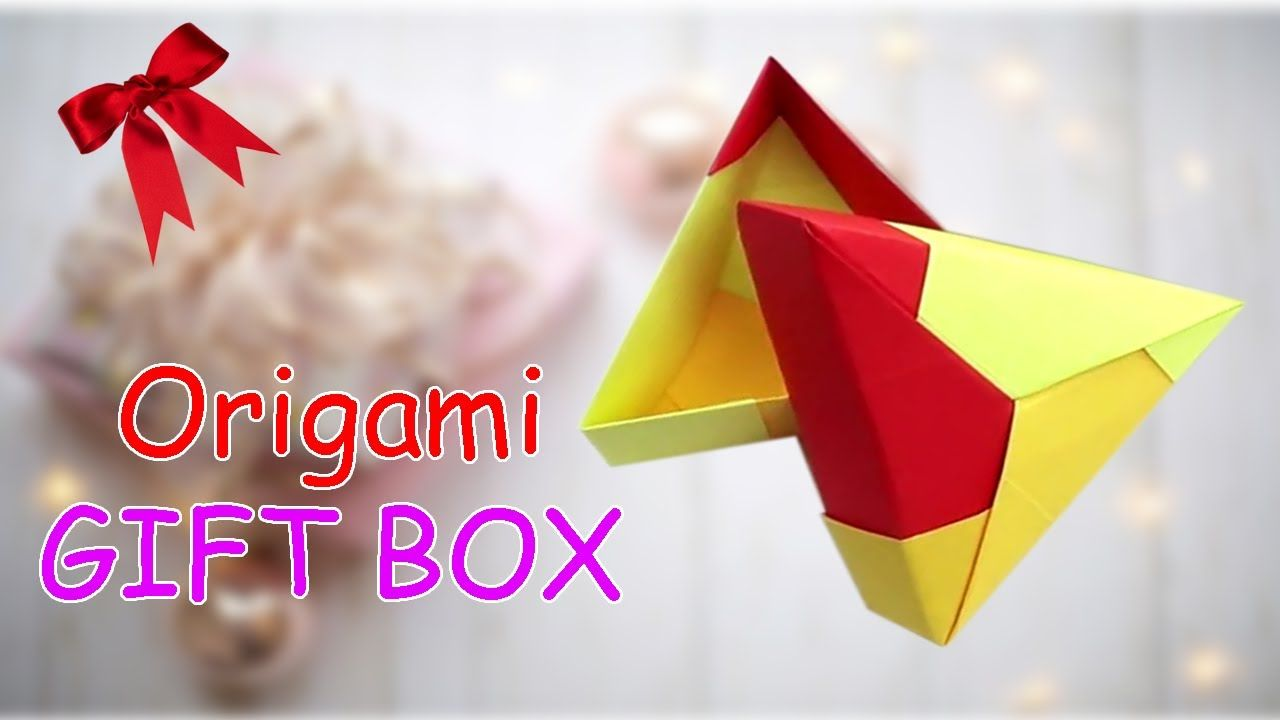 Origamibox How To Make A Paper Triangle Box In 2020 Origami Easy Origami Box Easy Origami Box