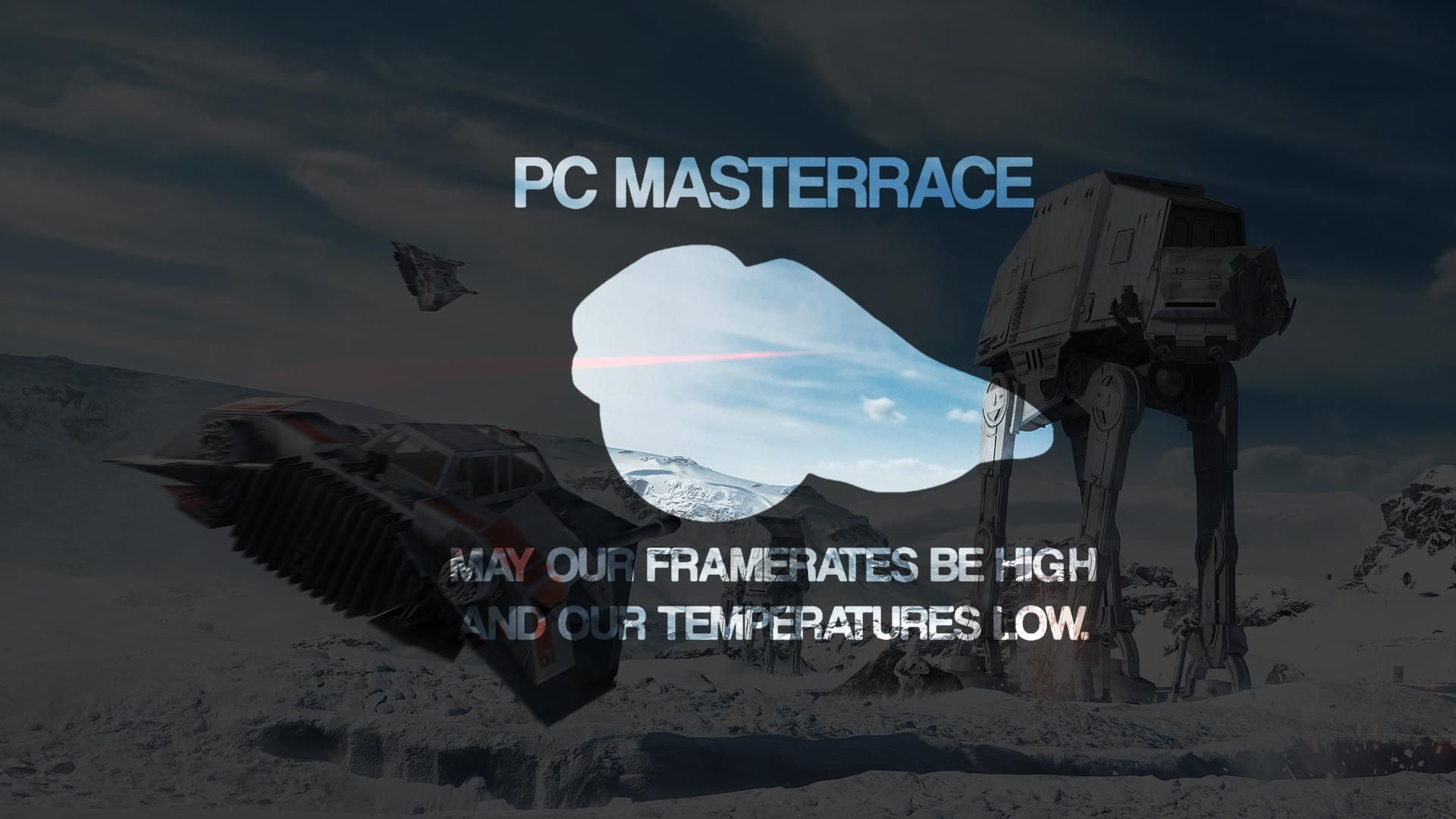 Glorious PCMasterRace Wallpaper/Star Wars Wallpaper 1920x1080 Need #iPhone # 6S #Plus #