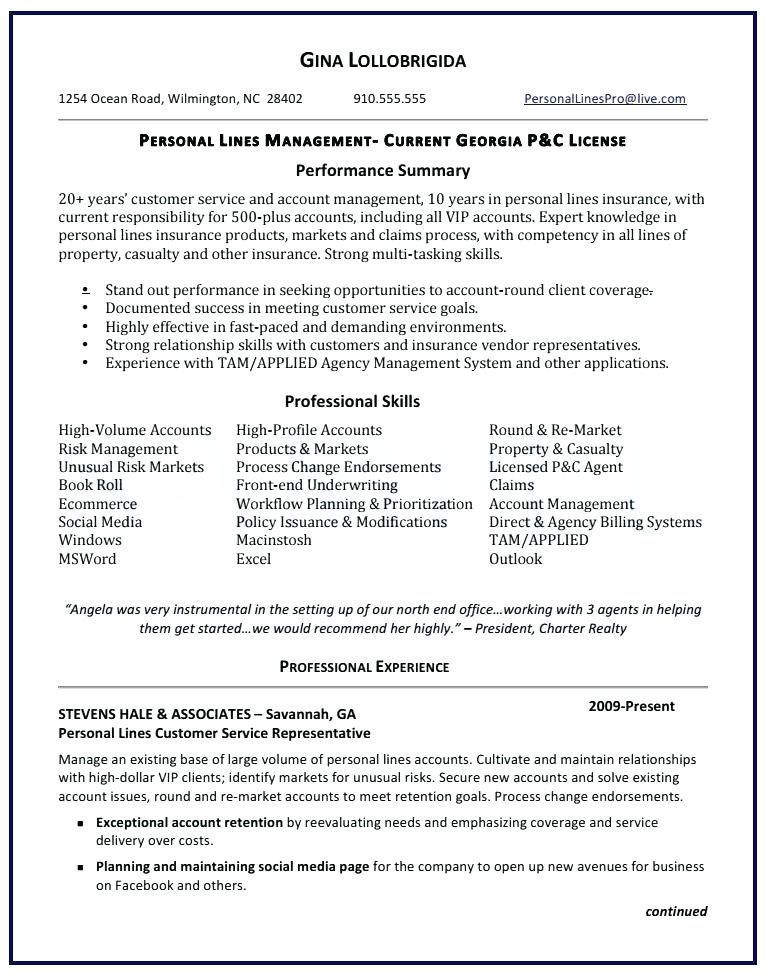 Insurance Resume Examples Life Insurance Sales Sales Resume Examples