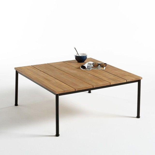 Table Basse De Jardin En Acacia Et Structure Metal La Redoute