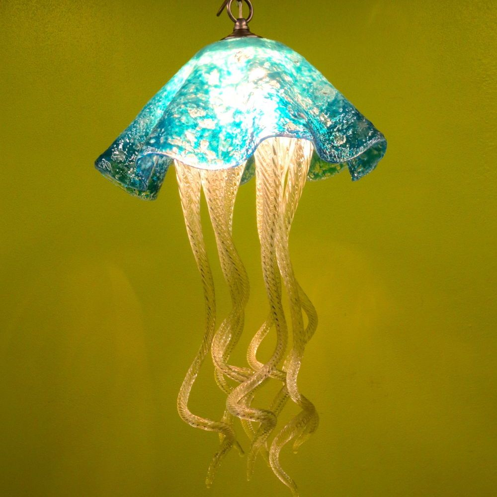 Buy Hand Made Blown Glass Chandelier Jellyfish Light Art