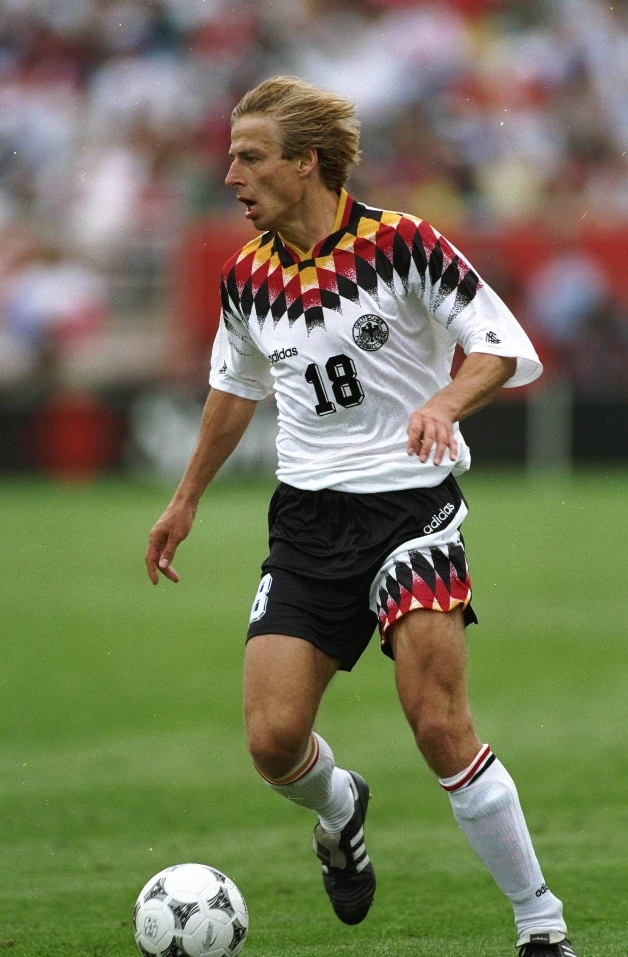 Jurgen Klinsmann During His Days As A Member Of The German National Team Jurgen Klinsmann Best Football Players Germany Football Team