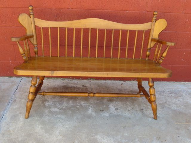 American bench vintage maple furniture antique american american bench vintage maple furniture sciox Gallery