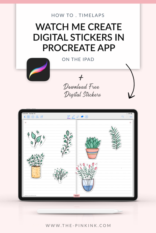 How to create Digital Stickers in Procreate app Time