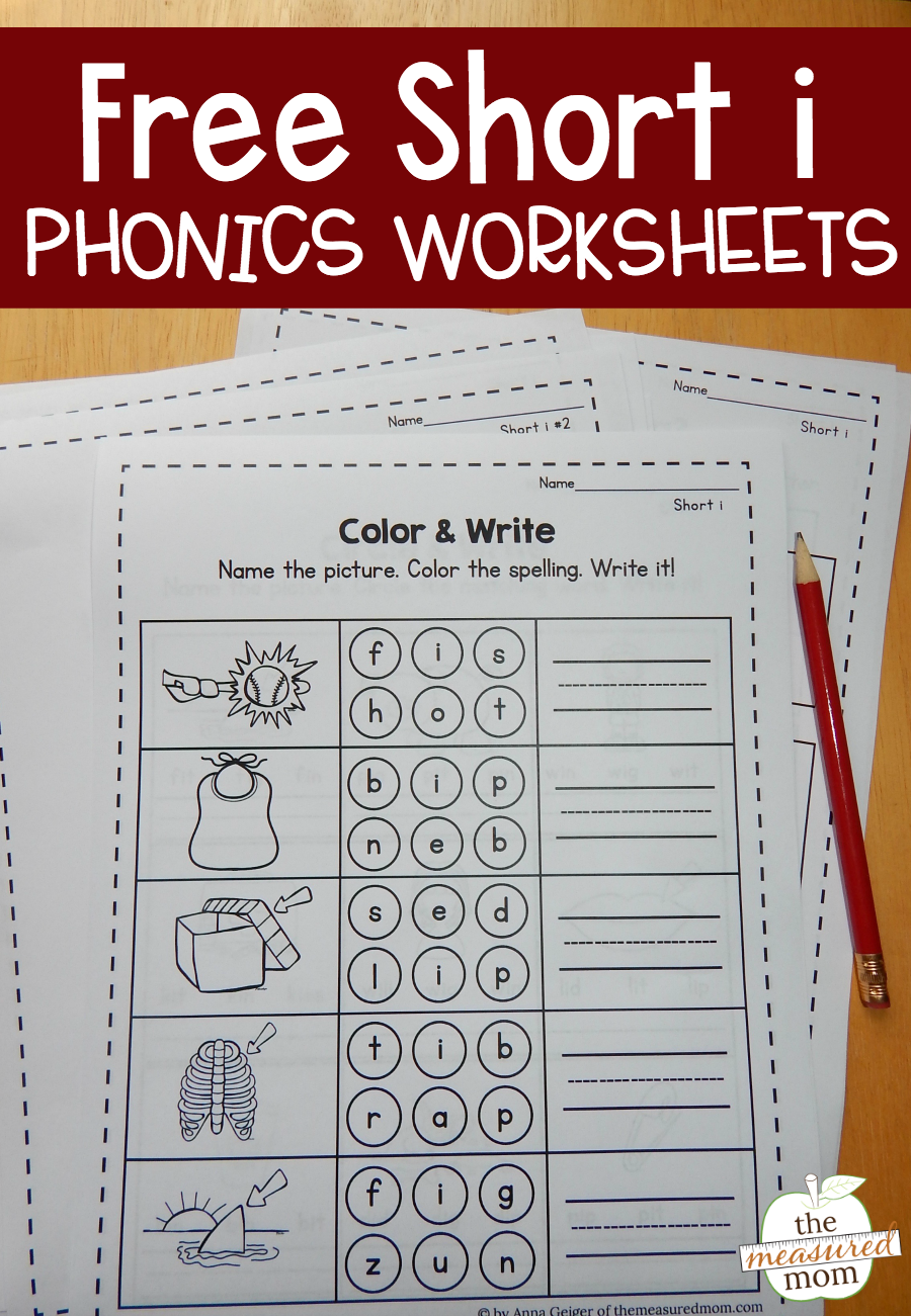Free Short Worksheets Phonics And Word Study