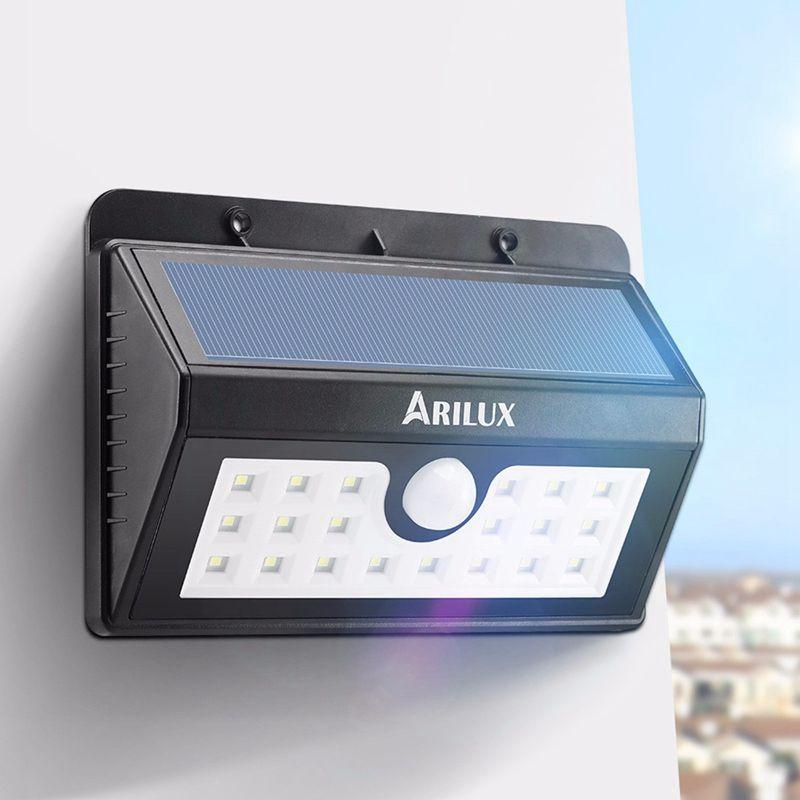 Arilux Wireless Solar Powered 20 Led Solar Light Waterproof Ip65 Pir Motion Sensor Outdoor Fence Garden Light Pathway Wall Lamp Led Lampu Dinding