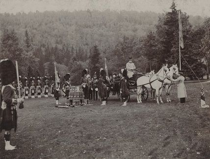 Queen Victoria presenting Colours to the 2nd Battalion, The Queen's Own Cameron Highlanders
