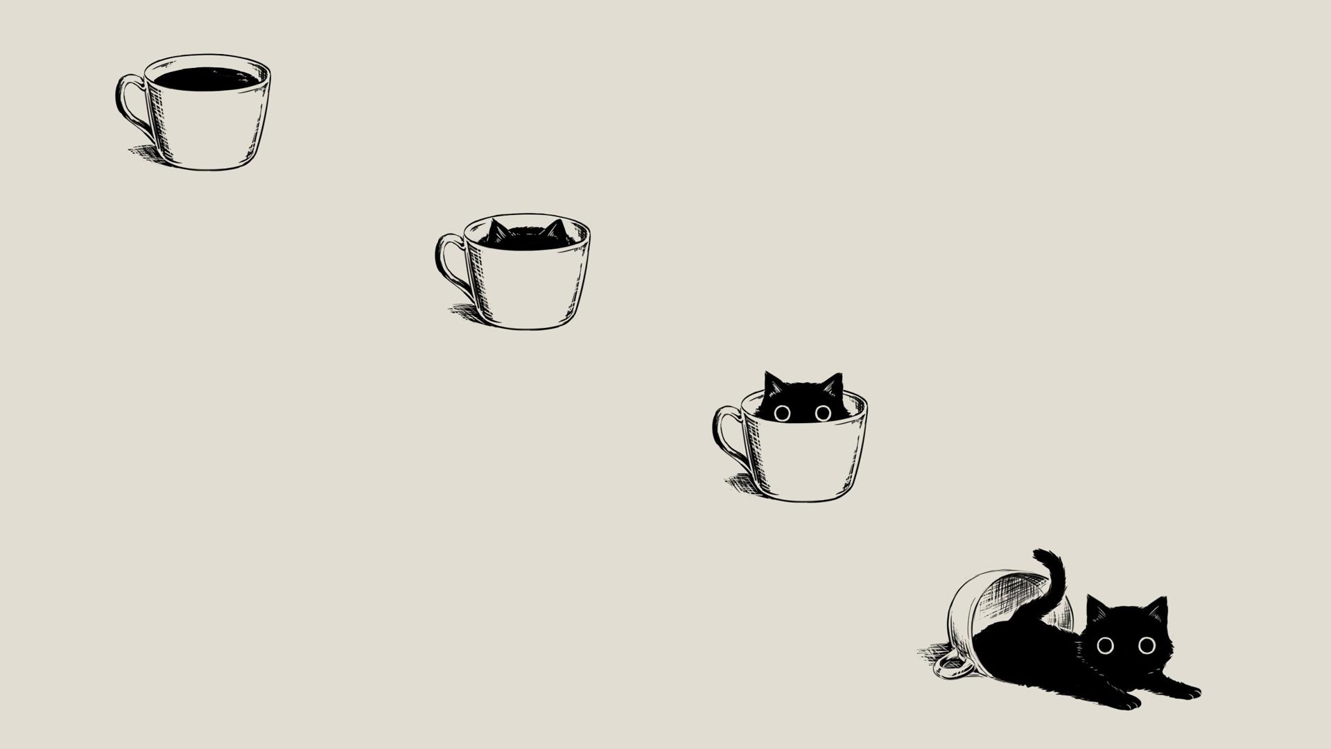 Wallpaper Background Desktop Cat Cat Wallpaper Simple Cat Drawing Cute Cat Wallpaper