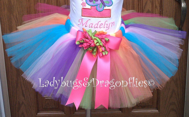Lollipop Rainbow Tutu by LadyBugsDragonflies on Etsy, $26.99