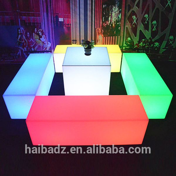 Online Shopping China Supplier Furniture Hot Sale Modern LED Living Room Decorative Illuminated Coffee