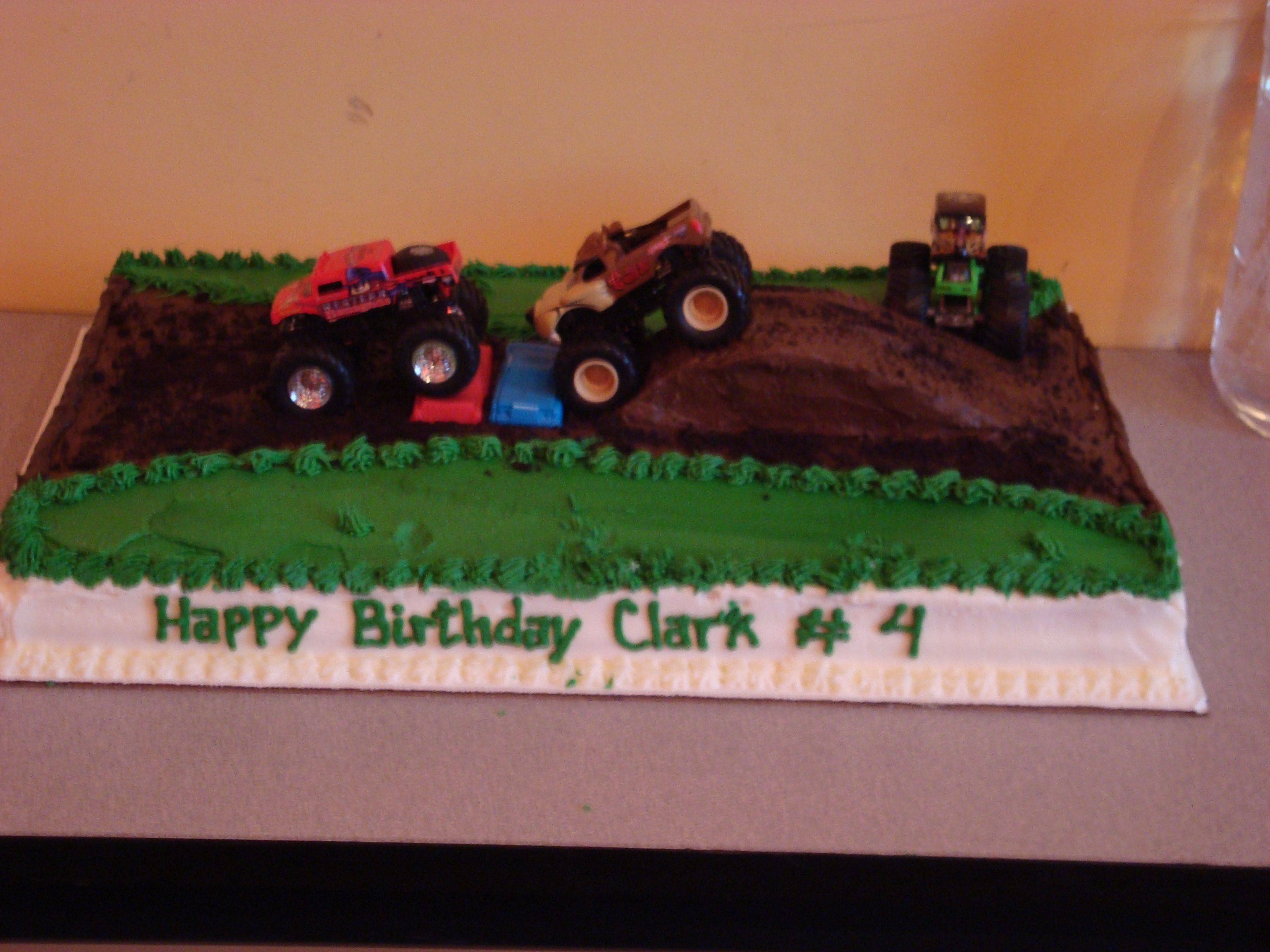My sons monster truck birthday cake Kids: party ideas ...