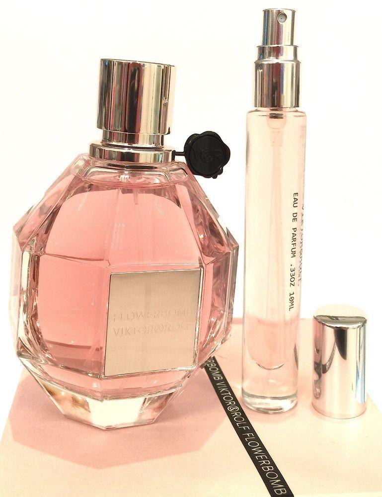 Flowerbomb Viktor Rolf Travel Deluxe Sample Atomizer Spray Perfume 33oz 10ml Perfume Spray Perfume Travel Atomizer