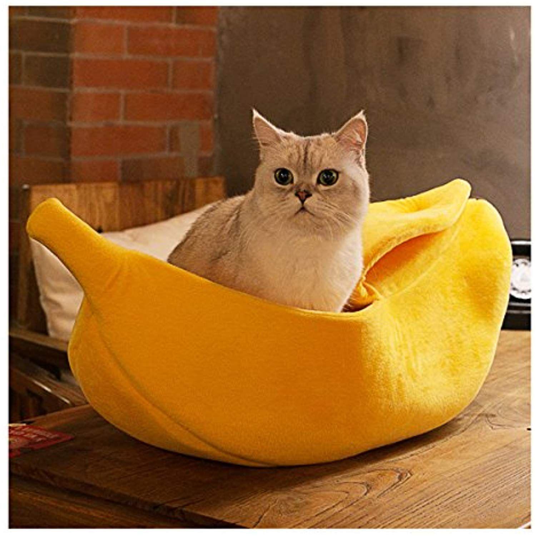 WORDERFUL Pet Dog Cat Banana Bed House Pet Boat Dog Cat