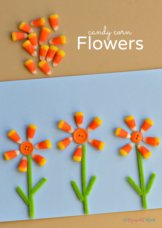 Tissue Paper Flower Crafts For Kids