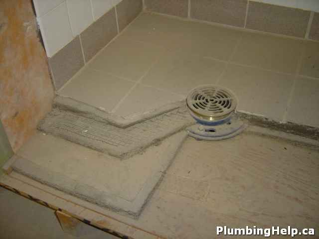 Concrete Shower Pan How To Construct A Tiled Shower With Images