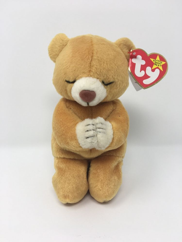 0b2b70ac212 Ty Beanie Baby HOPE Praying Bear Has Tag Errors 84210421350