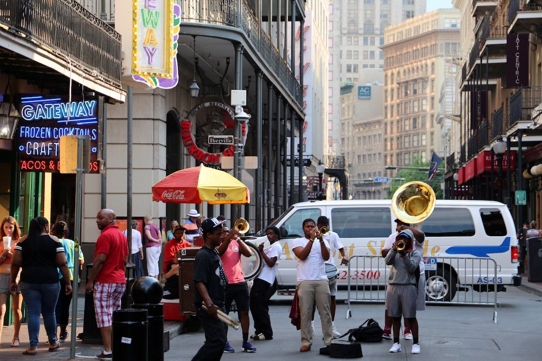 Jazz Street Music, Bourbon Street, New Orleans