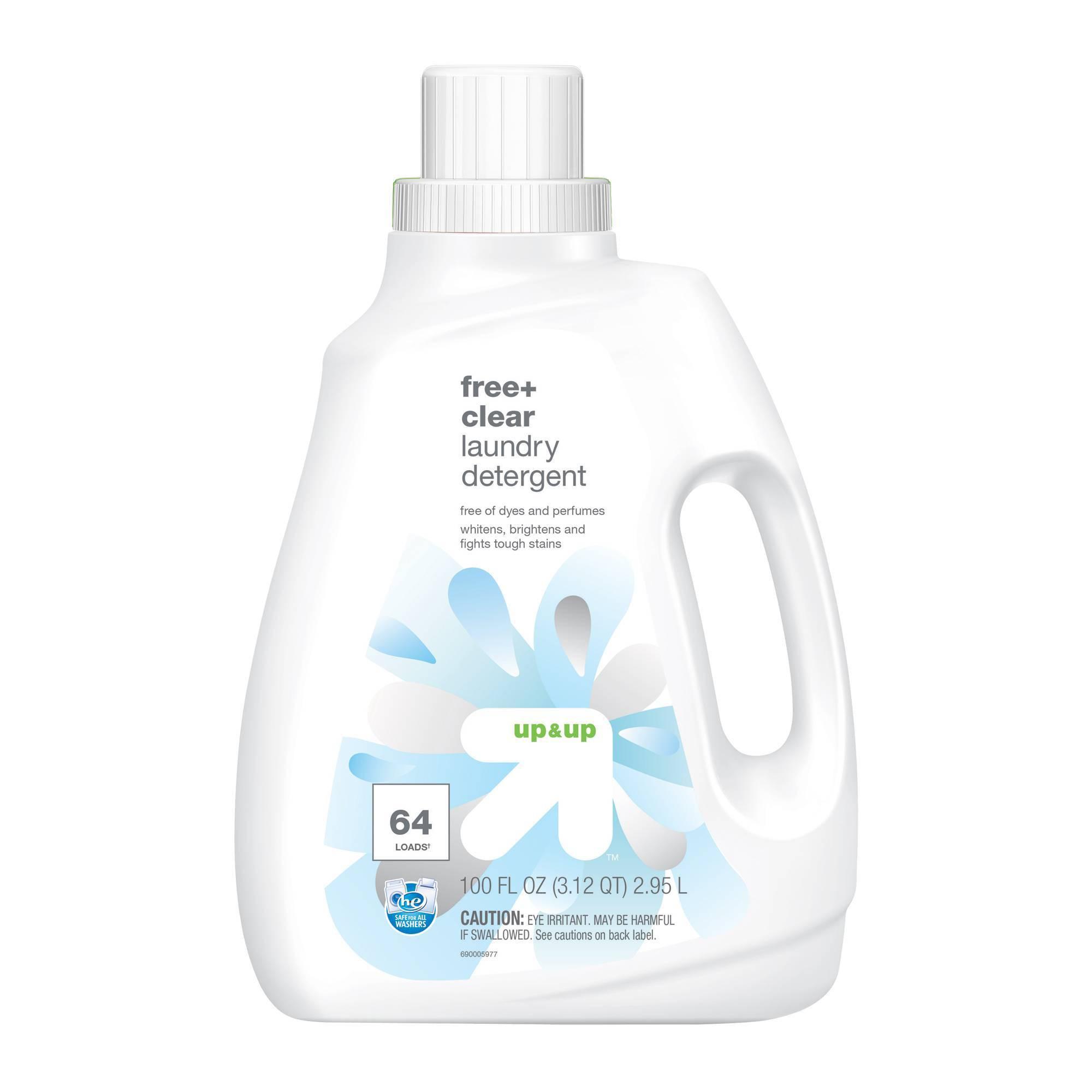 Free Clear He Liquid Laundry Detergent 100oz Up Up In 2020 Laundry Detergent Laundry Liquid Unscented Laundry Detergent