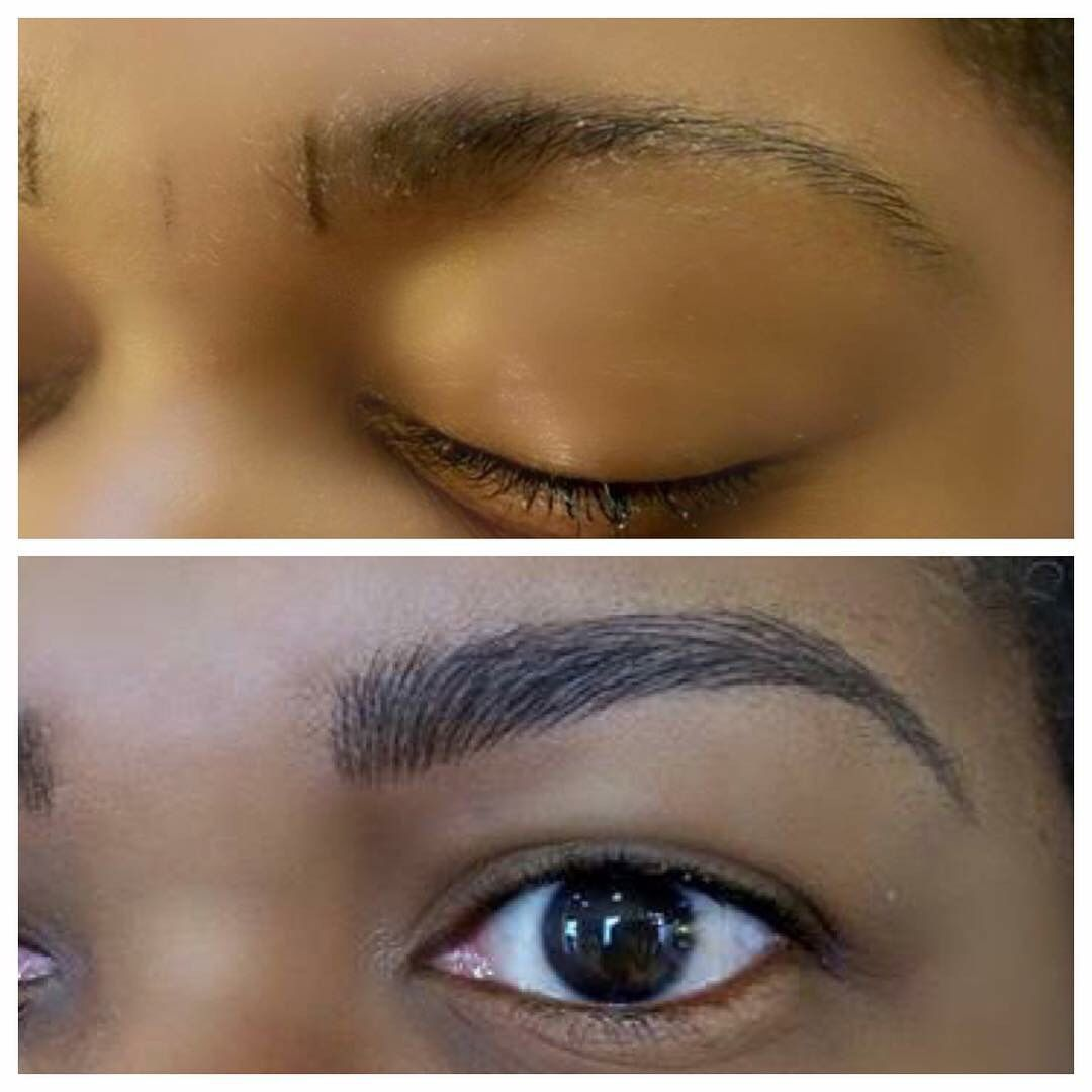 Eyebrow microblading feathertouch how to fill in brows for Tattoo removal grand rapids mi