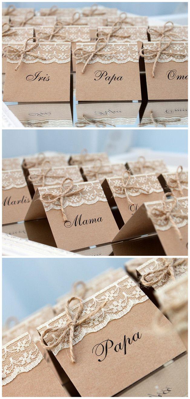 Tischkarte Platzkarten Platzkarte Namenskarten Namenskarte