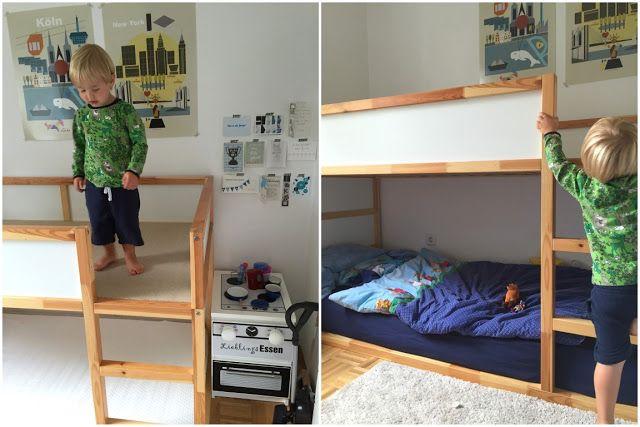 Kinderzimmer Makeover mit IKEA Kura Hack Ikeakura