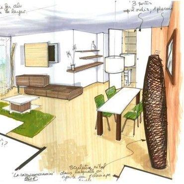 Une pièce à vivre pensée par Sophie Ferjani | Maison a vendre, Ferjani, Maison