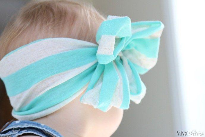 stripe baby headband