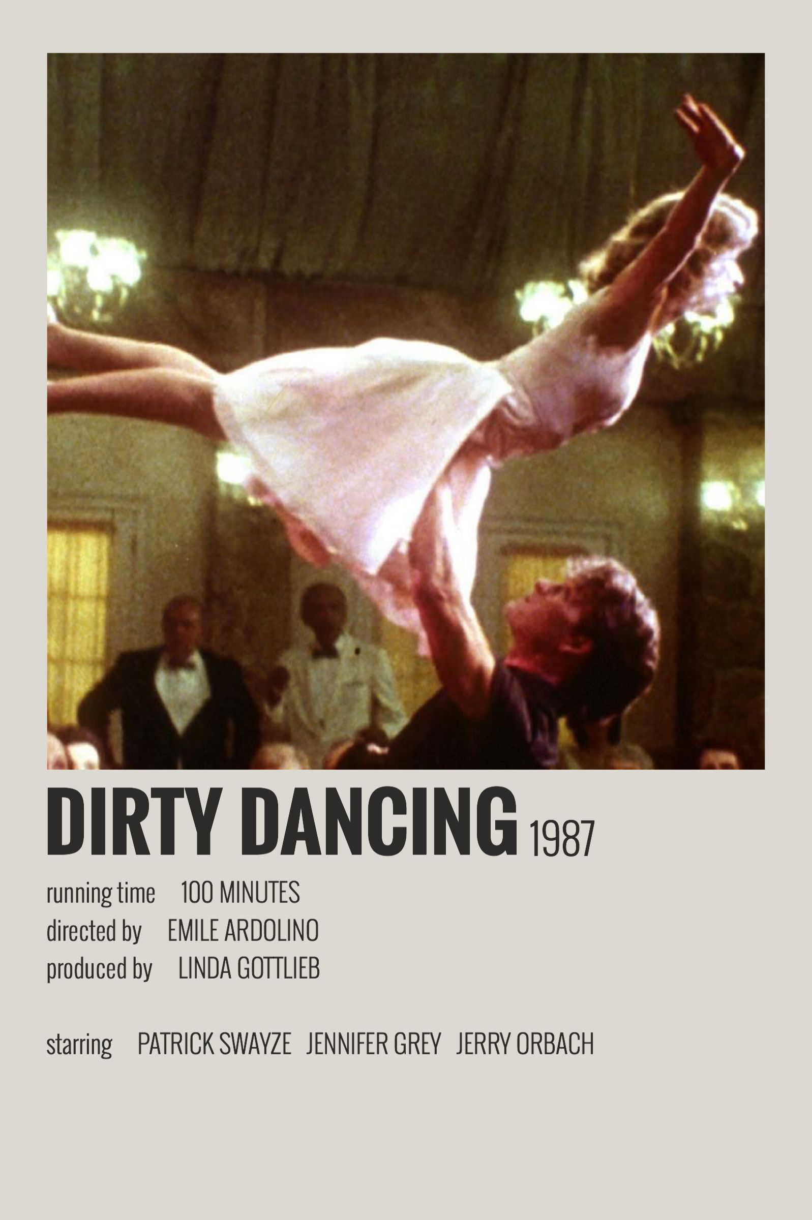 Alternative Minimalist Movie/Show Polaroid Poster - Dirty Dancing