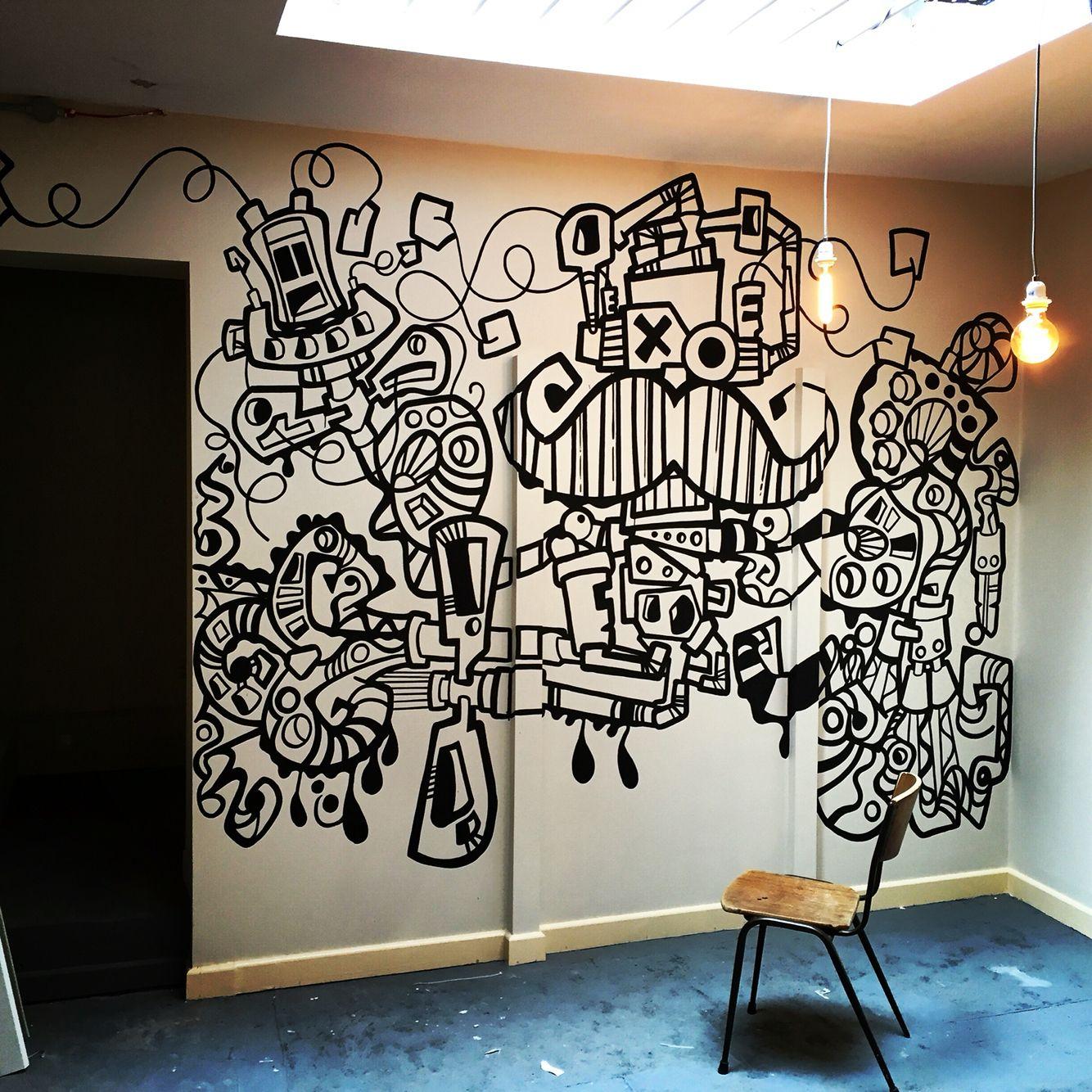 #clunkydoodles #doodles #mural #art #streetart #graffiti # ...