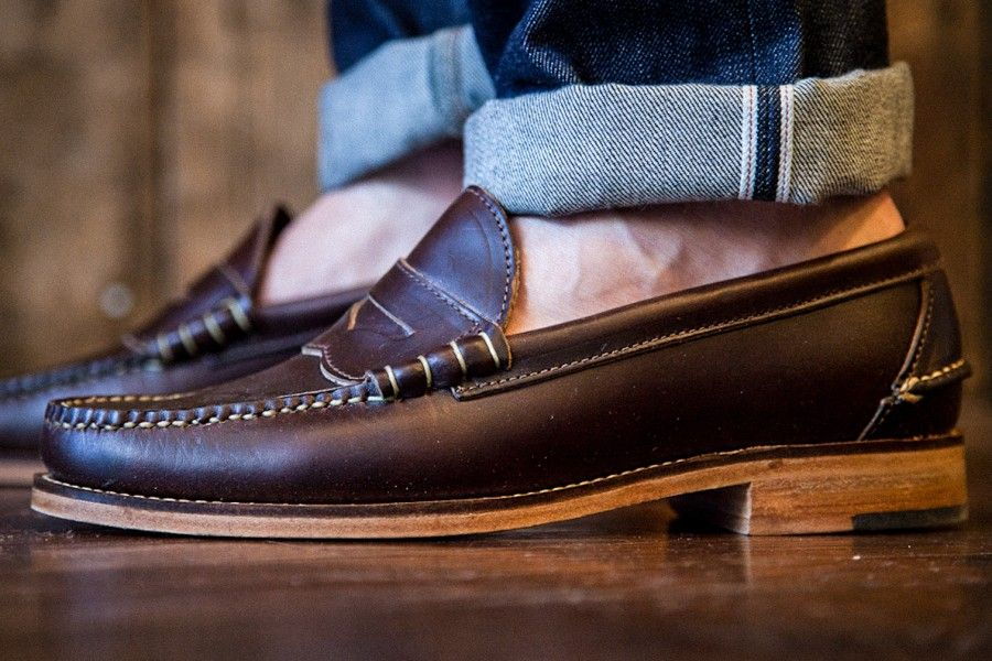 b2101e0647f Oak Street Bootmakers Beefroll Penny Loafer Brown Chromexcel ...