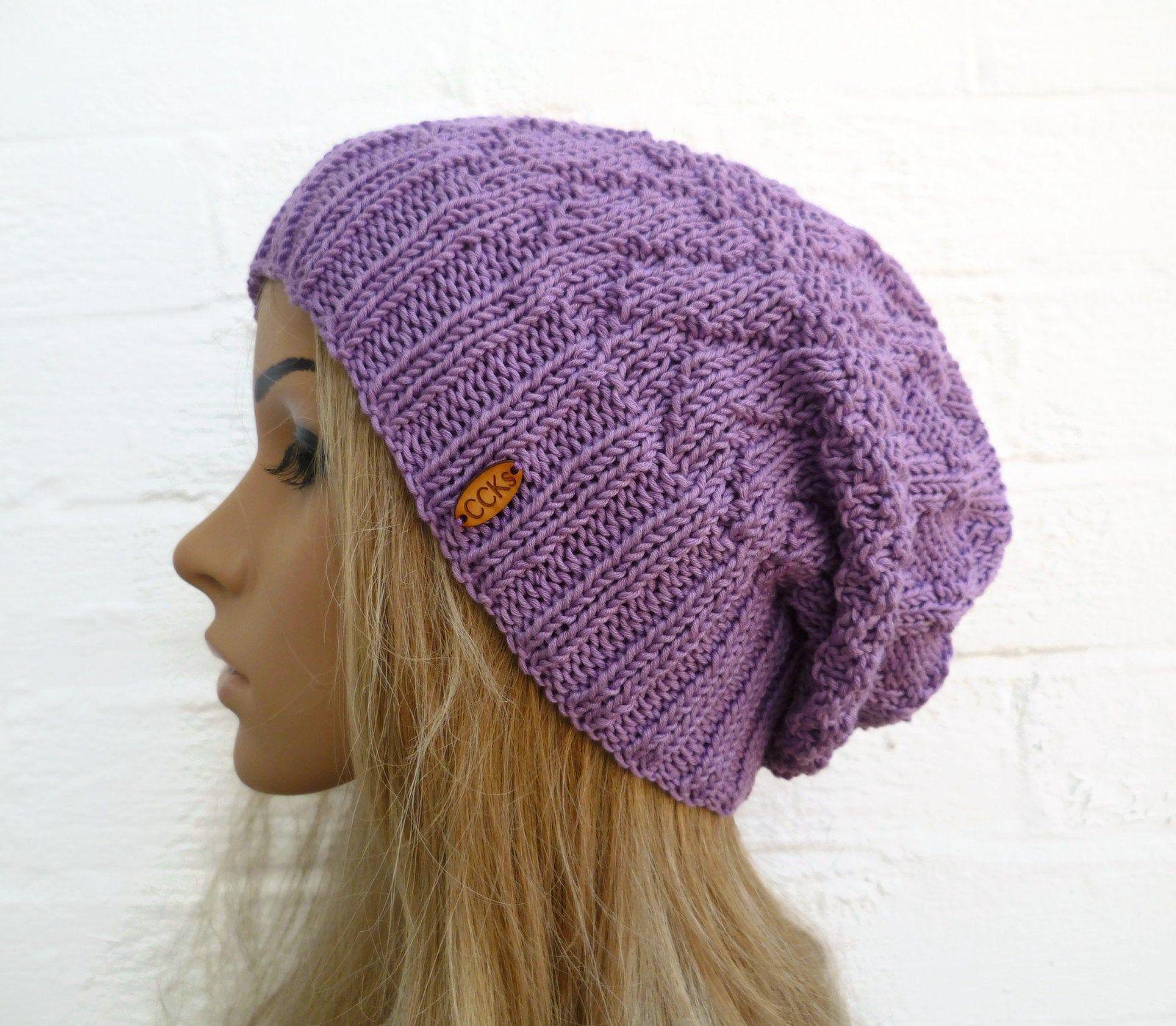 Slouchy Hat Purple Hat Slouch Hat Slouchy Beanie Girls Hats Womens Hats Slouch Beanie Hats Women Knit hats Women Knit Hat