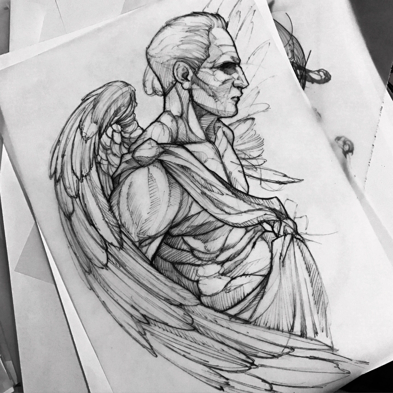 Angel drawing fredao oliveira tattoo2 pinterest - Zeichen ideen ...