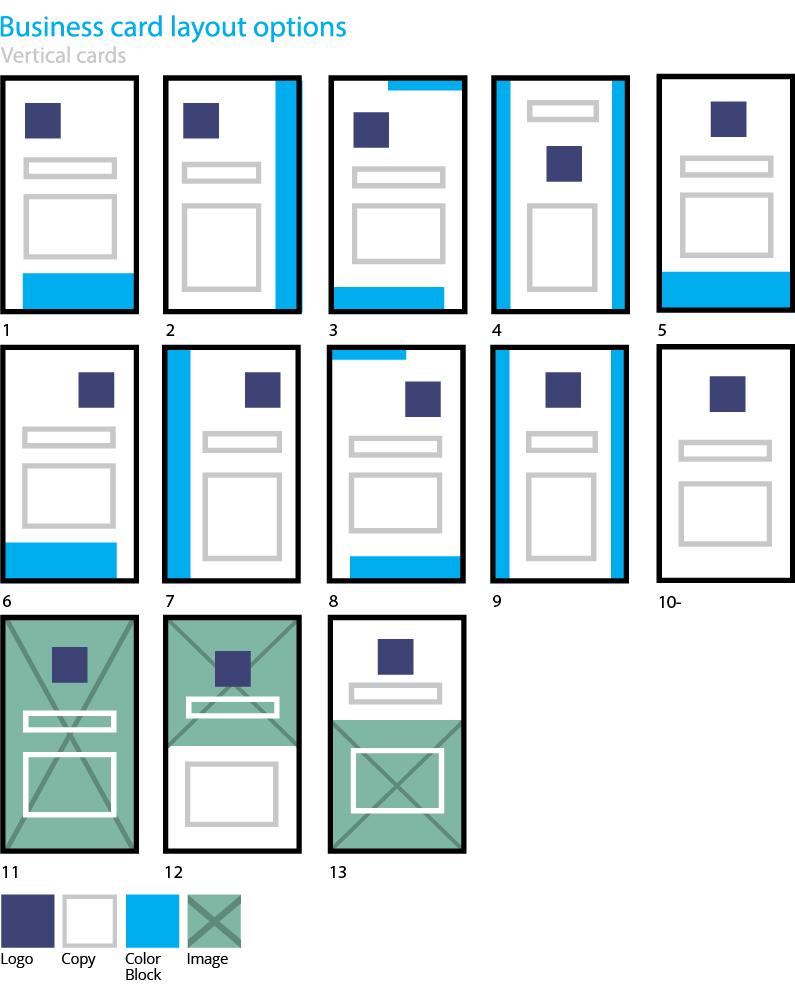 Vertical business card design layout options design pinterest stationery design visual guide business card letterhead vertical layout options best free home design idea inspiration spiritdancerdesigns Choice Image