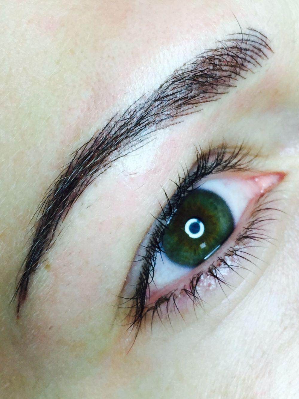 брови татуаж волосковый метод Eyebrows Permanent Make Up макияж