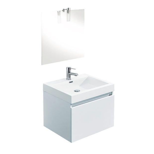 modle happy ensemble de meuble de salle de bains lapeyre - Modele Salle De Bain Avec Meubles Blanc