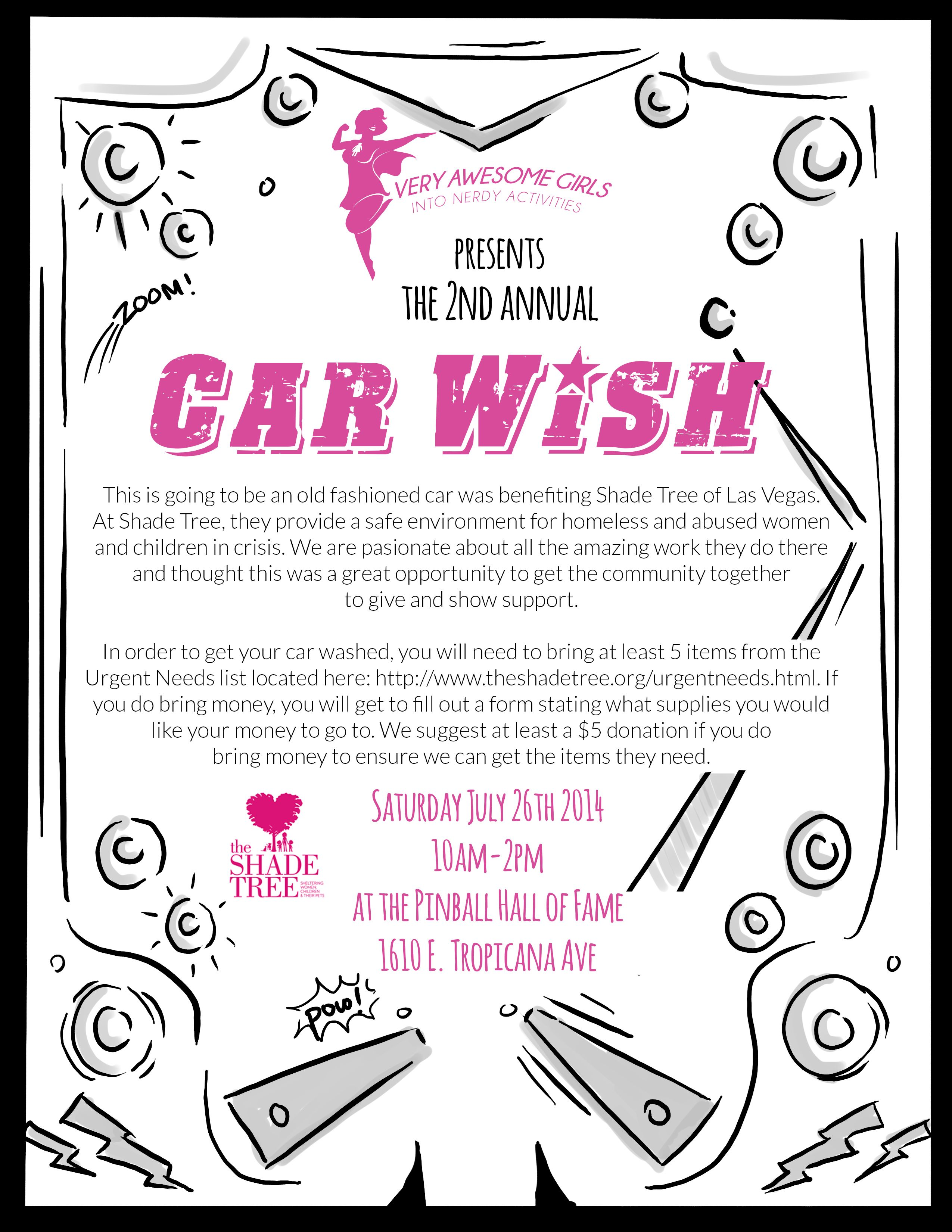 The car wash will be held from 9 am2 pm at the most