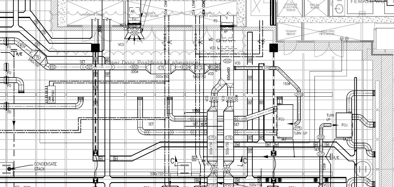 Building services coordinated drawing Mechanical systems