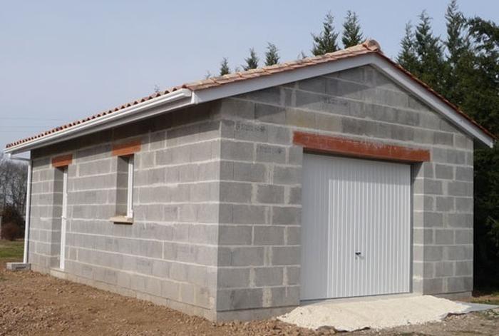 Construire Un Garage De 20m2 Prix Parpaing 20m2 Construction Meilleur En 2020 Construire Un Garage Construction Garage Garage Toit Plat